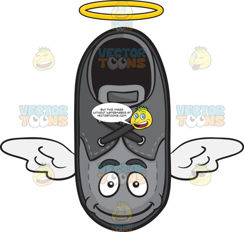 Flying Shoe With Halo And Wings Emoji