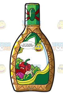 A Bottle Of Salad Dressing