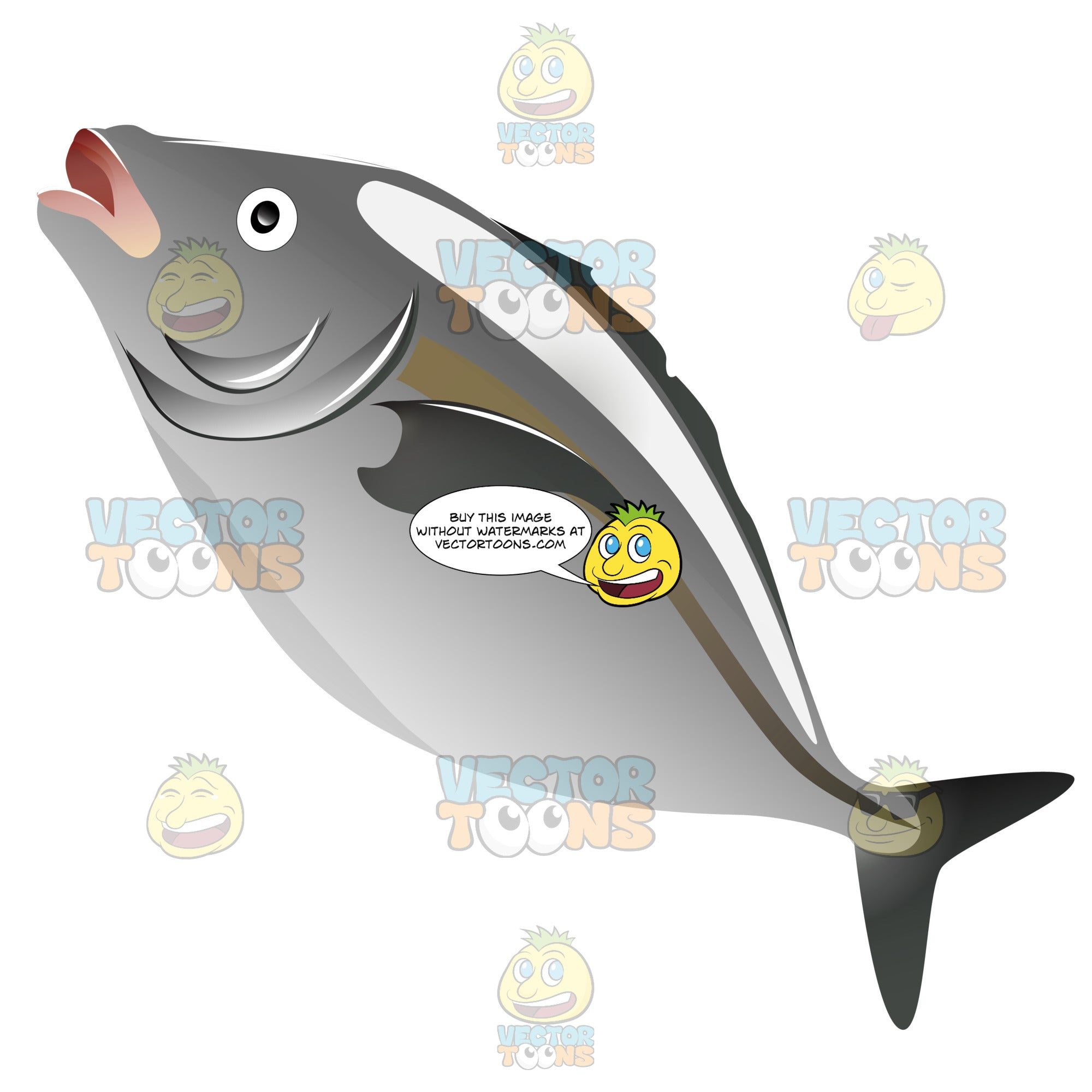 Whole Grey Or Silver Fish