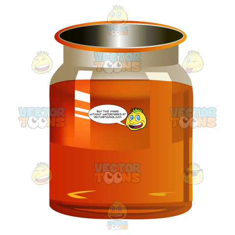 Jar With Brown Liquid Inside May Be Honey