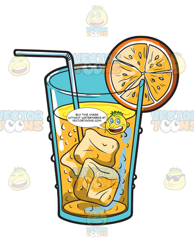 A Cold Orange Juice Drink