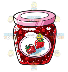 A Jar Of Strawberry Jam