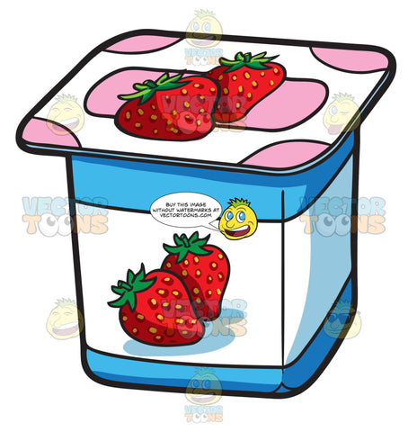 A One Serving Strawberry Yogurt For Sale