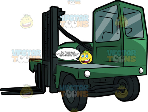 A Side Loader Forklift Truck