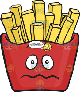 Nervous Red Pack Of French Fries Emoji