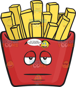 Sleepy Red Pack Of French Fries Emoji