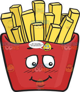 Bashful Red Pack Of French Fries Emoji