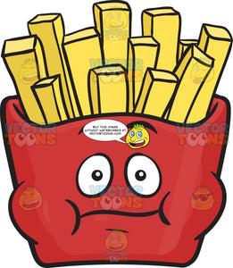 Bloated Red Pack Of French Fries Emoji