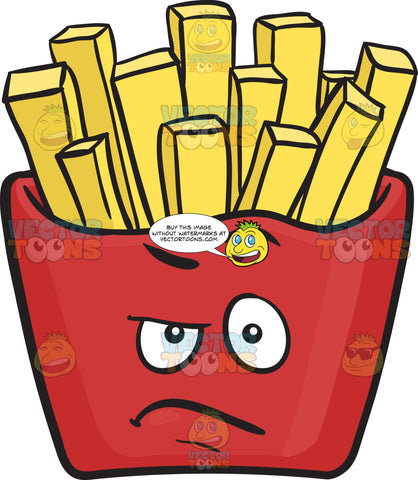 Angry Red Pack Of French Fries Emoji