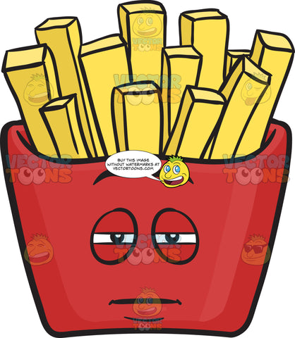 Heavy Eyed Red Pack Of French Fries Emoji