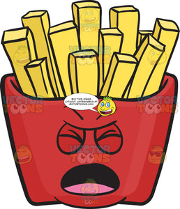 Nagging Red Pack Of French Fries Emoji