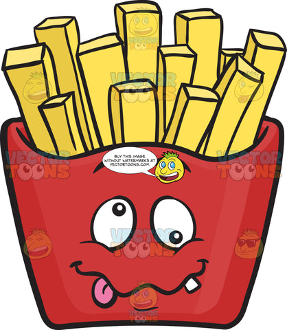 Crazy Red Pack Of French Fries Emoji