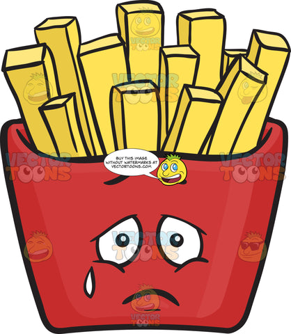 Heavy Hearted Red Pack Of French Fries Emoji
