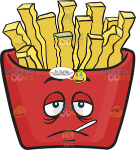 Sickly Red Pack Of French Fries Emoji