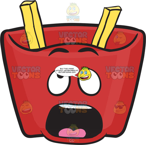 Red Pack Of French Fries – Missing Fries Surprise! Emoji