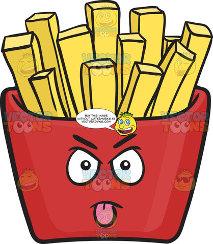 Intimidating Red Pack Of French Fries Emoji