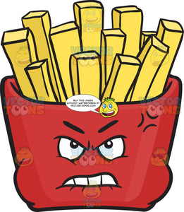 Distressed And Mad Red Pack Of Fries Emoji
