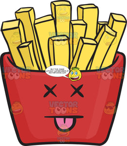 Silly Red Pack Of French Fries Emoji