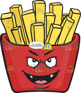 Vampire Red Pack Of French Fries Emoji