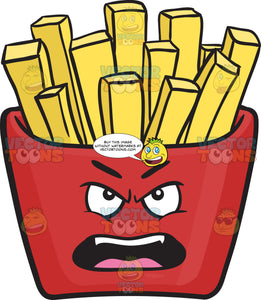 Outraged Red Pack Of French Fries Emoji