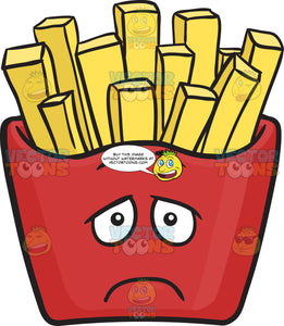 Depressed Red Pack Of French Fries Emoji