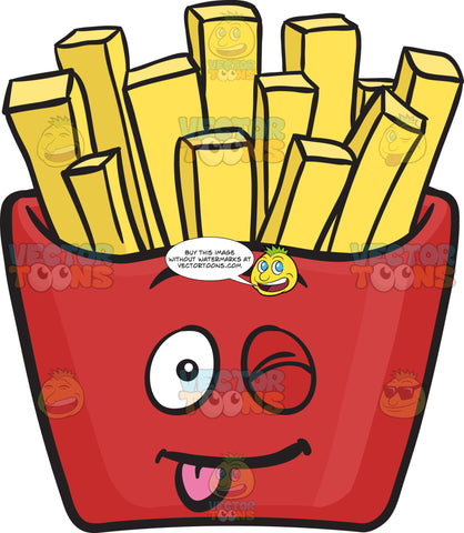 Teasing Clumsy Red Pack Of French Fries Emoji