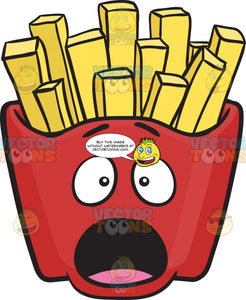 Alarmed Red Pack Of French Fries Emoji