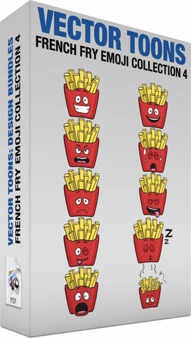 French Fry Emoji Collection 4