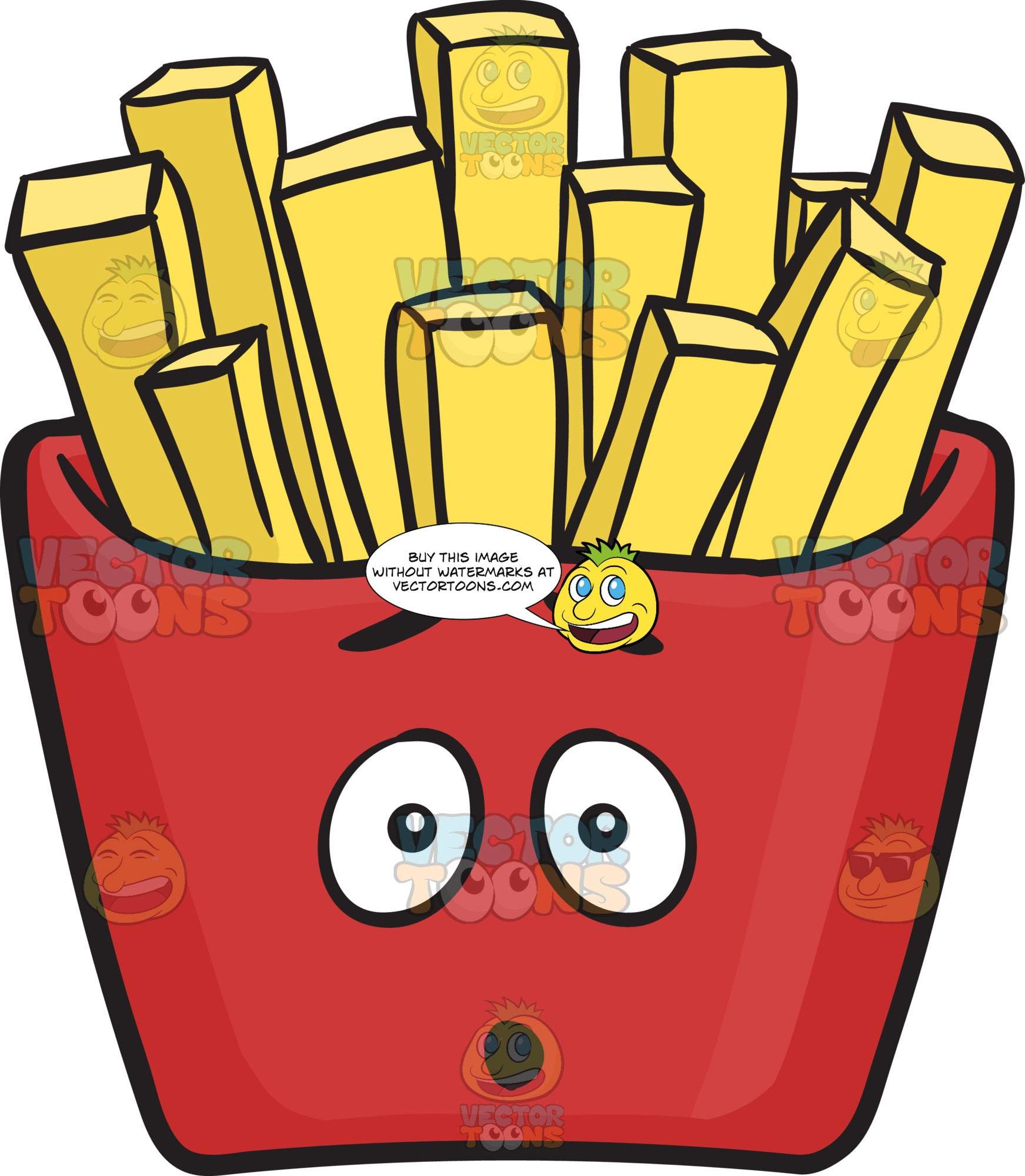 Dumbfounded Red Pack Of French Fries Emoji