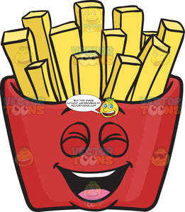 Laughing Red Pack Of French Fries Emoji