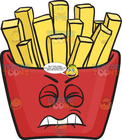 Disgruntled Red Pack Of French Fries Emoji