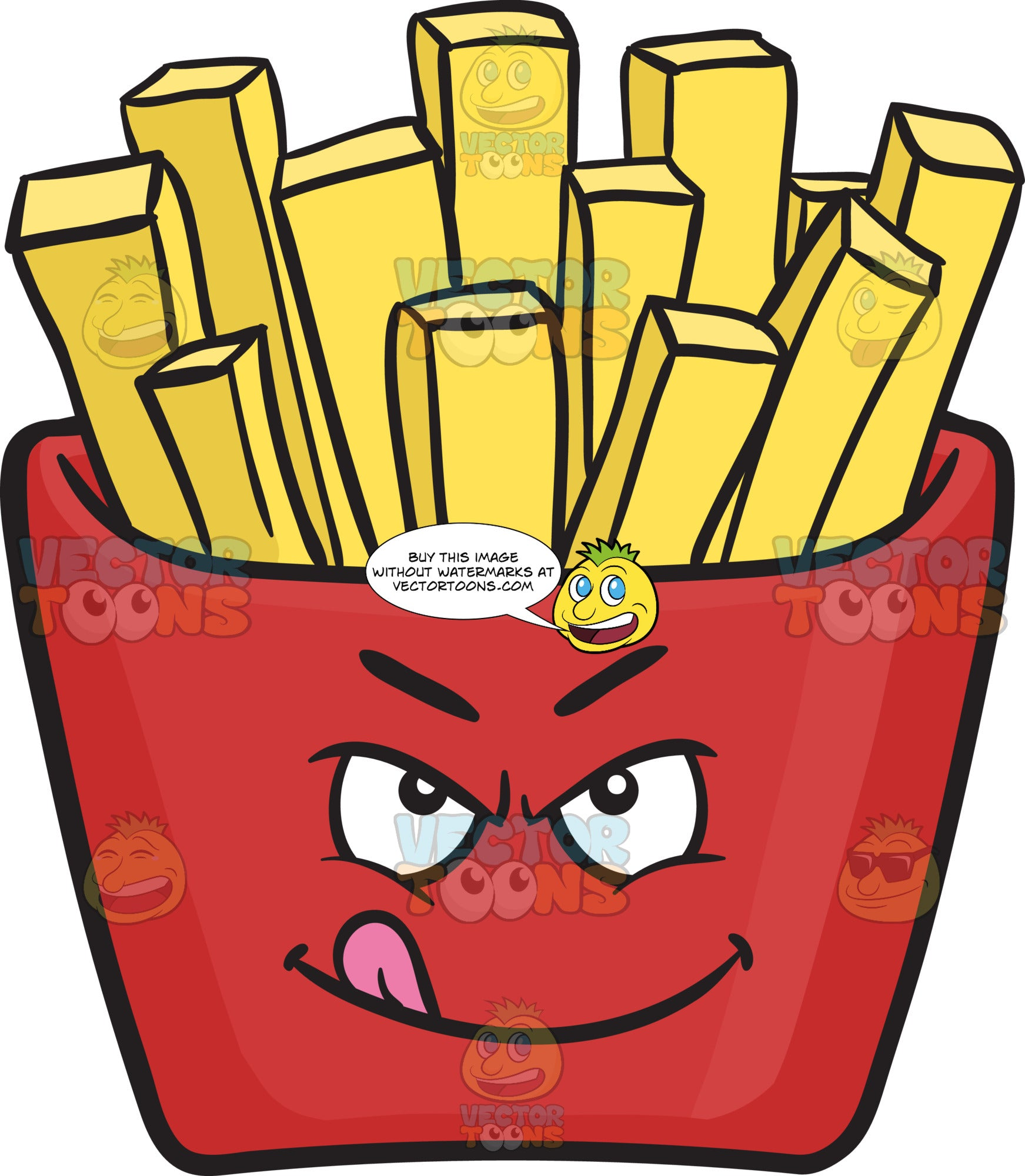 Ready To Rumble Red Pack Of French Fries Emoji