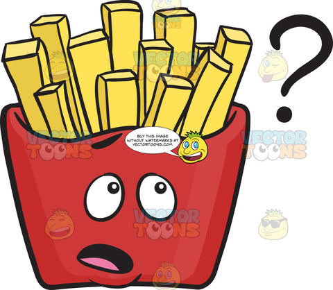 No Idea Red Pack Of French Fries Emoji