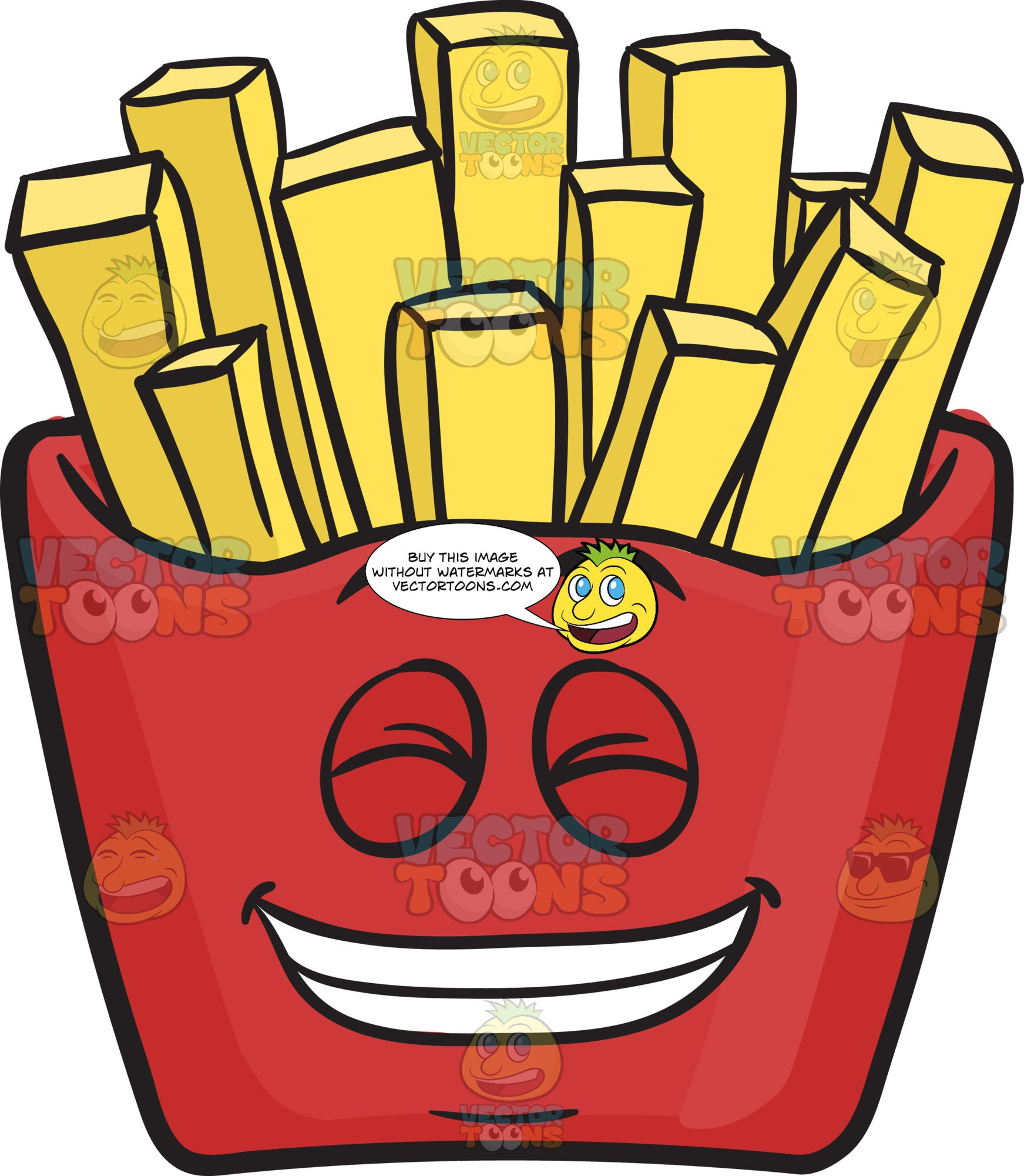 Guilty Grin Red Pack Of French Fries Emoji