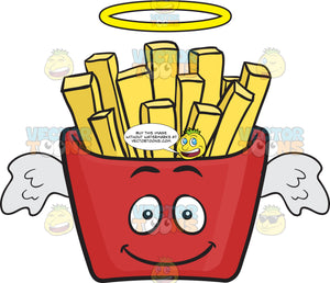 Angel Red Pack Of French Fries Emoji