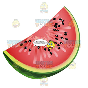 Slice Of Watermelon With Seeds