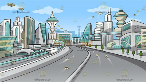 Futuristic City Background