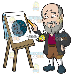 Galileo Galilei Drawing A Moon