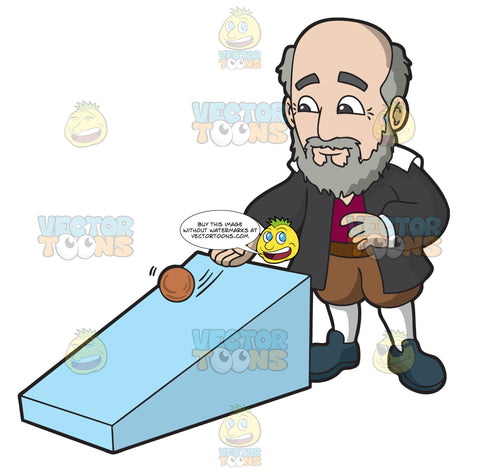 Galileo Galilei Rolling A Ball Down A Ramp