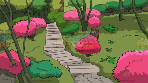 Garden Steps Background