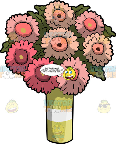 A Vase Of Lovely Gerbera Daisies