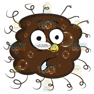 Lumpy Round Brown Germ Cell Bacteria With Face