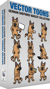 German Shepherd Mascot Collection