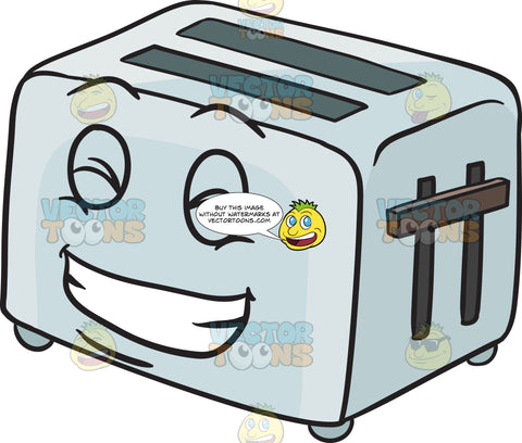 Giddy Pop Up Toaster Smiling With Pearly Whites Emoji