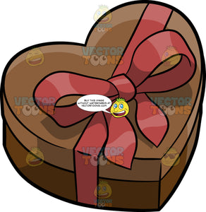 A Chocolate Heart Gift Box