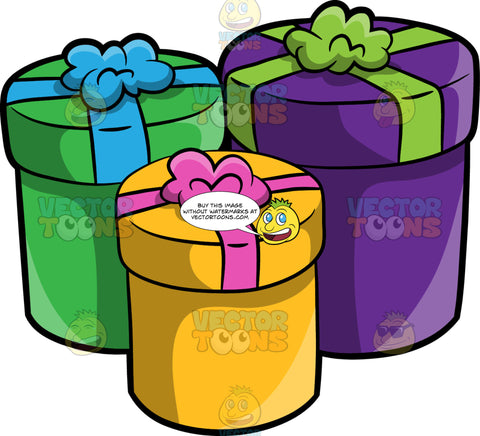 Colorful Cylindrical Gift Boxes
