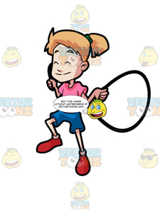 A Girl Skipping Rope