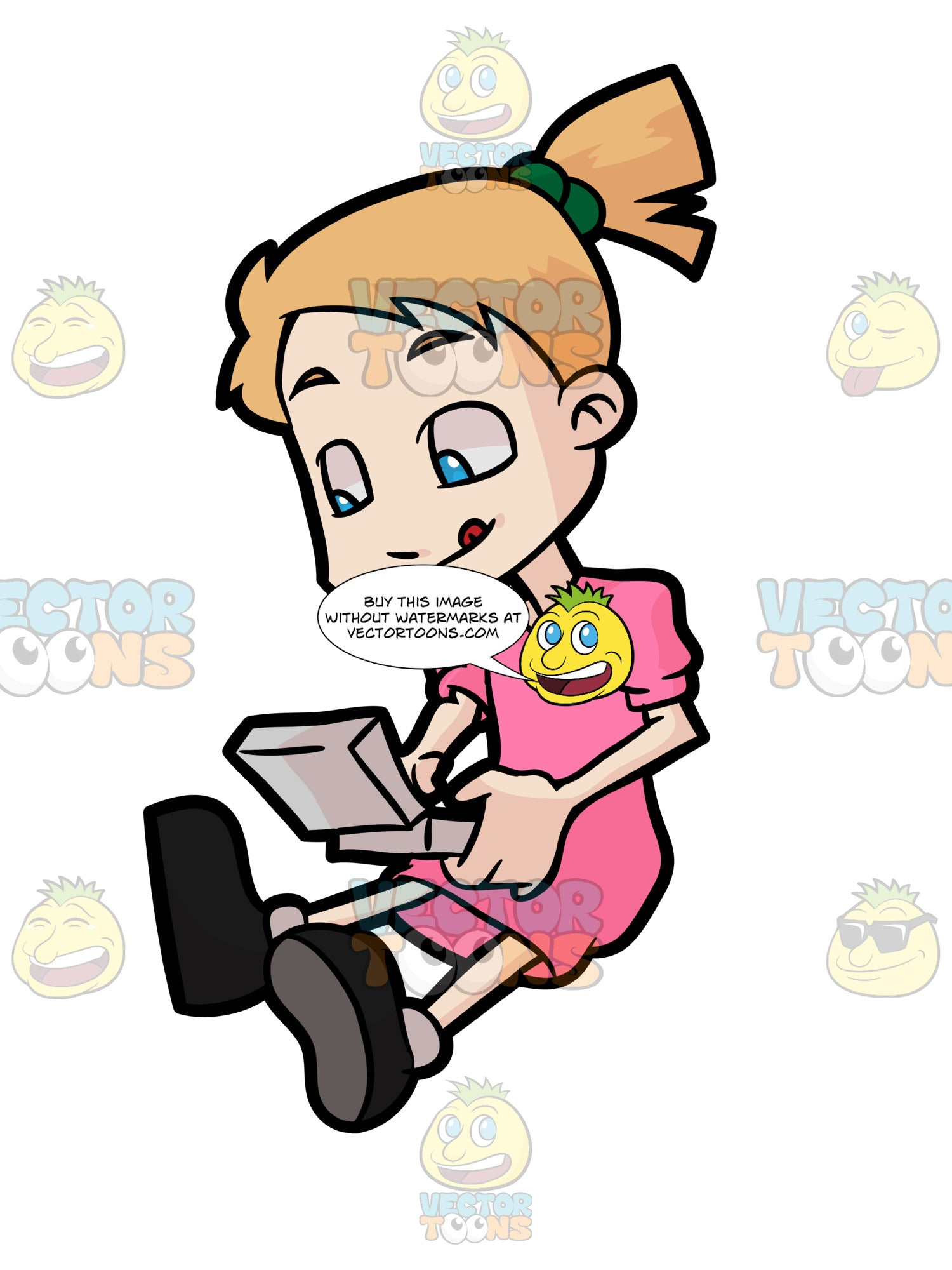 A Young Girl Playing A Game In Her Portable Video Game Console