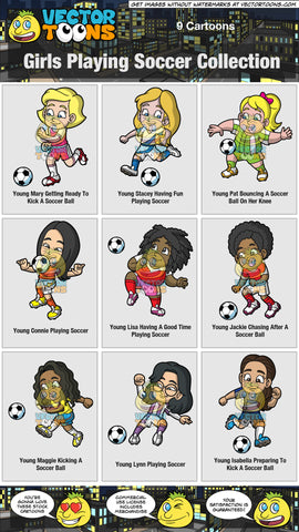 Girls Playing Soccer Collection