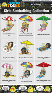 Girls Sunbathing Collection